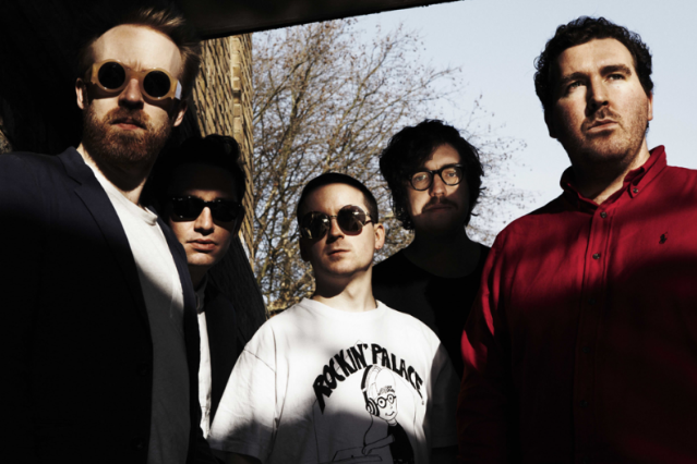 Hot Chip (Left to Right) Al Doyle, Owen Clarke, Alexis Taylor, Felix Martin, Joe Goddard