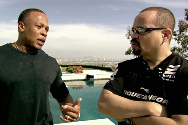 Dr. Dre and Ice-T in 'Something From Nothing'