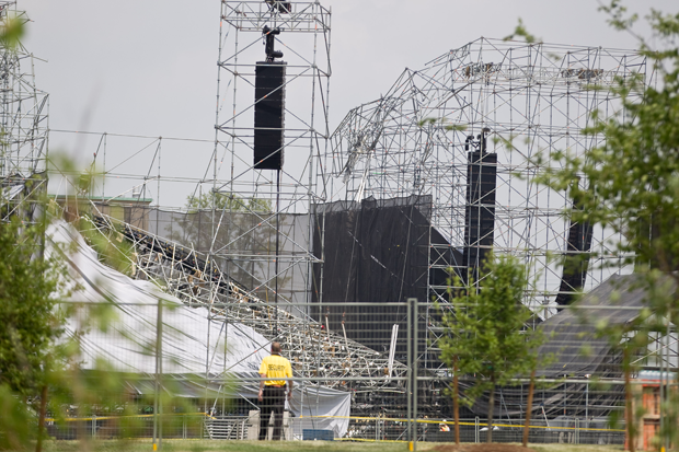 Investigators survey the scene at Downsview Park in Toronto, Ontario on June 18 / Photo by Geoff Robins/AFP/Getty
