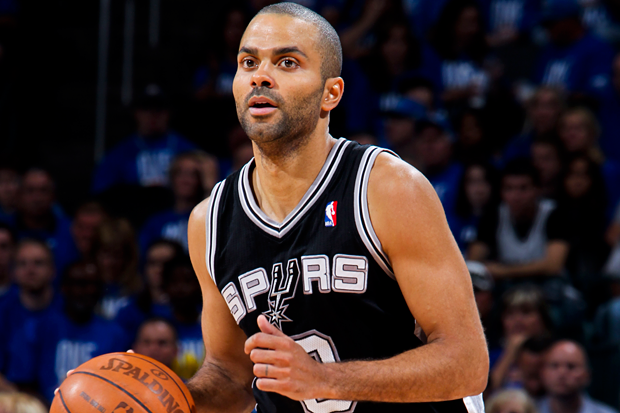 Tony Parker somewhere safer than the club / Photo by Layne Murdoch/NBAE via Getty