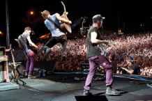 Coldplay at Lolla 2011 / Photo by Cambria Harkey