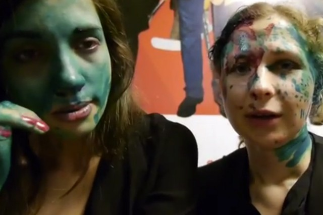pussy riot, attacked, mcdonald's