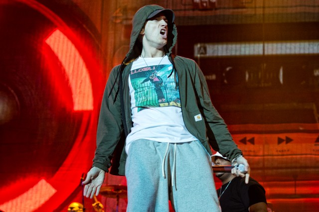 Eminem at Lollapalooza, Chicago, August 1-3, 2014 / Photo by Dana (distortion) Yavin