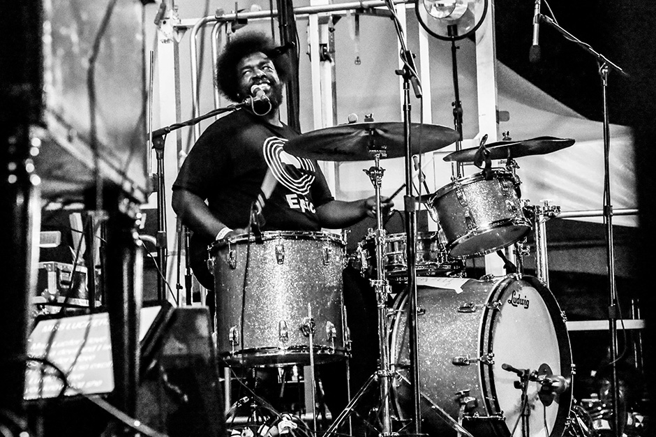 ?uestlove with D'angelo at Afropunk Fest, Brooklyn, August 23-24, 2014