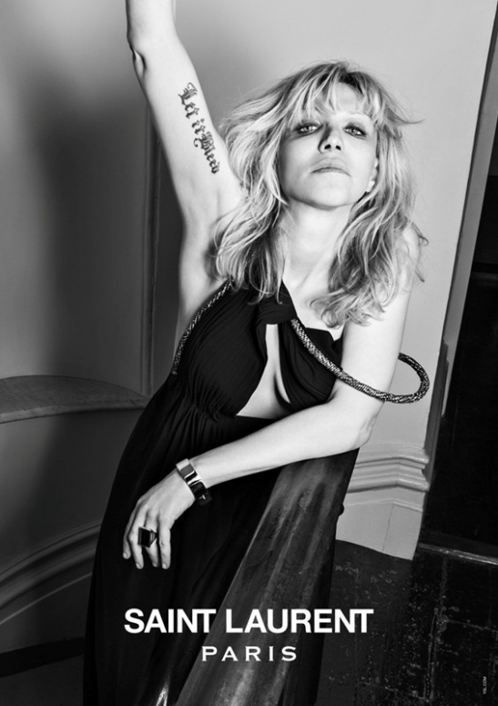 Courtney Love by Heidi Slimane for Saint Laurent