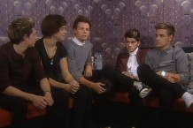 One Direction thinking really hard