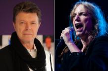 David Bowie / Patti Smith (Photo: Getty Images, Bowie; Josh Sisk, Smith)