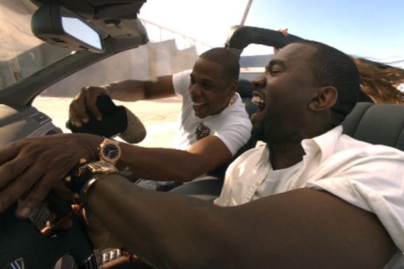 Jay-Z and Kanye West and a Maybach
