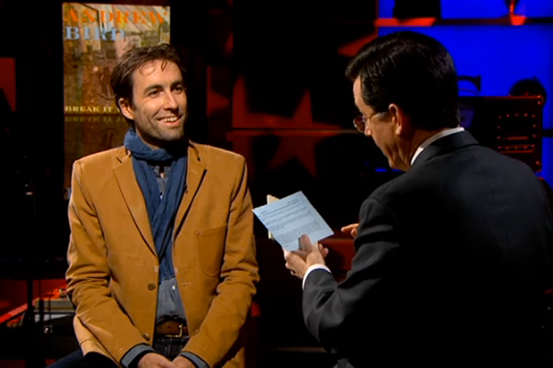 Andrew Bird and Stephen Colbert / Comedy Central