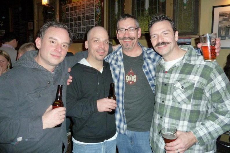 The Hüsker Düdes plus superiorly mustachio'd Dü bassist Greg Norton / Photo: Hüsker Düdes' Facebook