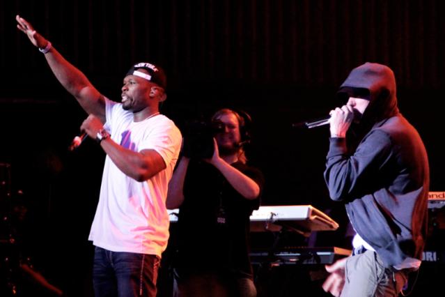 50 and Eminem / Photo by Nilina Mason-Campbell