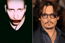 Marilyn Manson and Johnny Depp / Depp photo by Getty Images