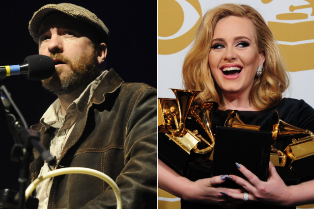 Stephin Merrit (Tim Mosenfelder/Getty) / Adele (Frederic J. Brown/AFP/Getty)