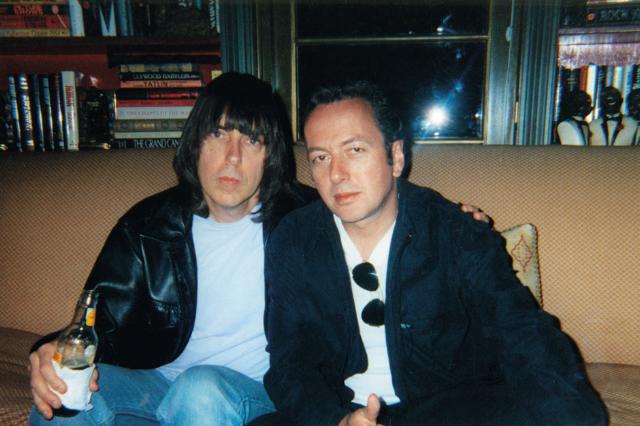 Johnny Ramone & Joe Strummer / Photo courtesy JRA LLC photo archives