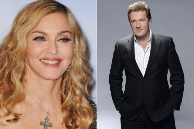 Madonna (Getty Images) / Piers Morgan