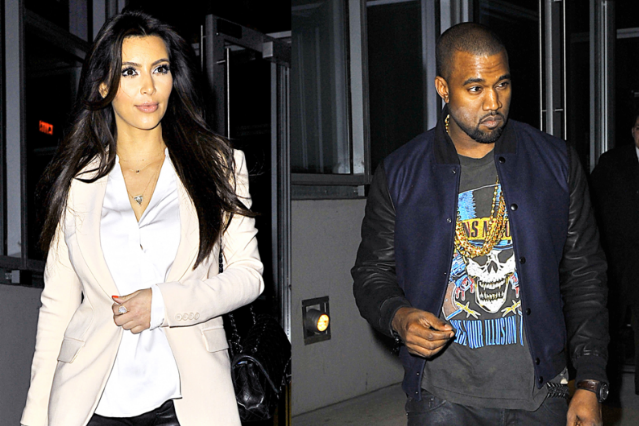 Kim Kardashian and Kanye West / Photo by Splash News