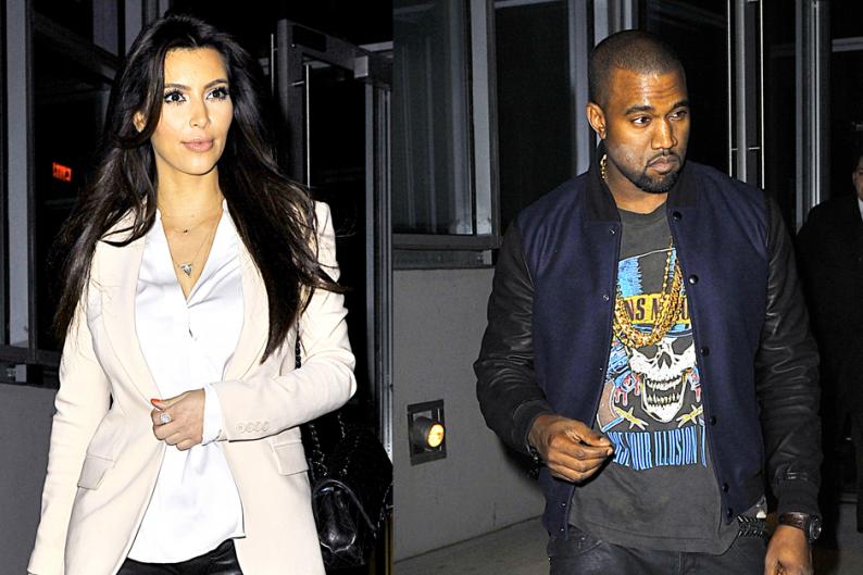Kim Kardashian and Kanye West / Photo by Splash News