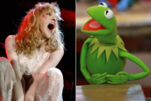 Courtney Love and Kermit the Frog