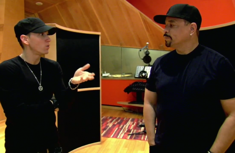 Eminem and Ice-T / from 'The Art of Rap' trailer