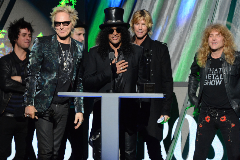 Guns N' Roses (most of them, at least) / Photo by Jeff Kravitz/FilmMagic