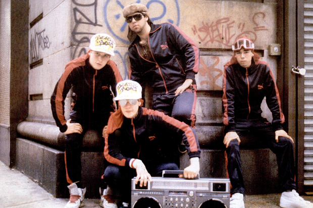 Beastie Boys with Rick Rubin in 1985 / Photo by Josh Cheuse