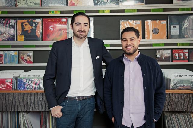 Drip FM's Sam Valenti IV and Miguel Senquiz / Photo by Will Calcutt