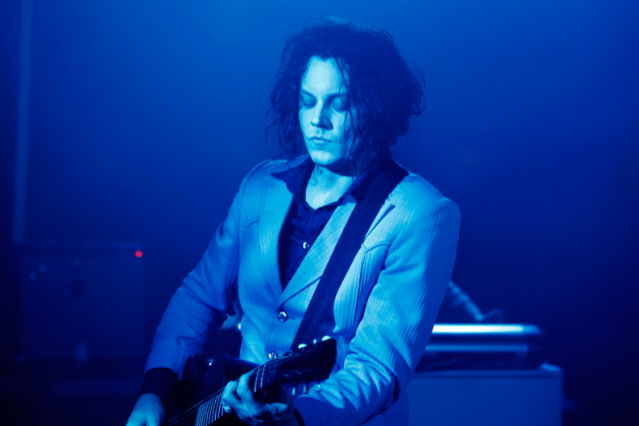 Jack White, thinking of a metaphor / Photo by Jo McCaughey