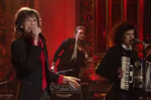 Arcade Fire and Mick Jagger on 'SNL'