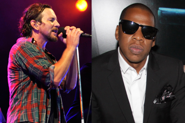 Pearl Jam's Eddie Vedder/Jay-Z / Photos by Getty