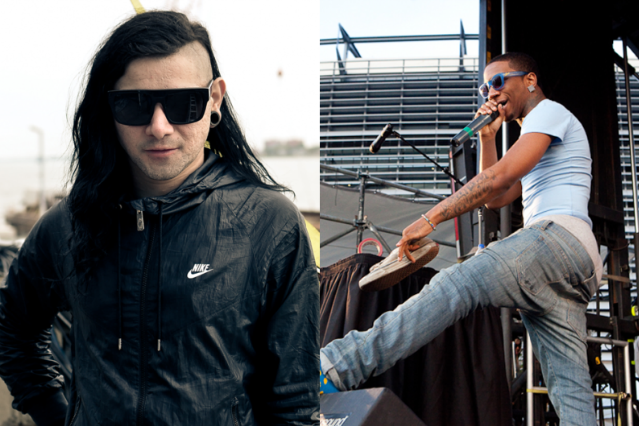 Skrillex / Lil B (Photo by Rebecca Smeyne, Lil B)