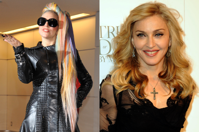 Lady Gaga (Kazuhiro Nogi/AFP/Getty) / Madonna (Richard Corkery/NY Daily News via Getty)