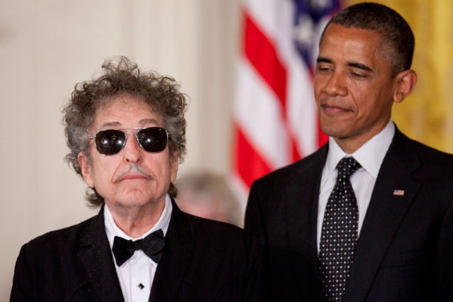 Note: Bob Dylan probably won't be busy VMAs night!  / Photo by Andrew Harrer/Bloomberg via Getty