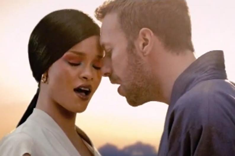 Coldplay and Rihanna