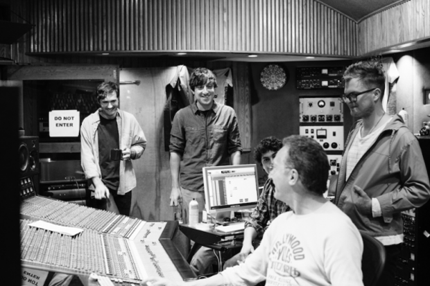 Grizzly Bear in the studio / Photo by Brantley Gutierrez