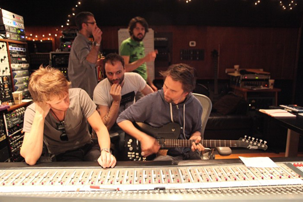 Muse in the studio / Photo by Tom Kirk