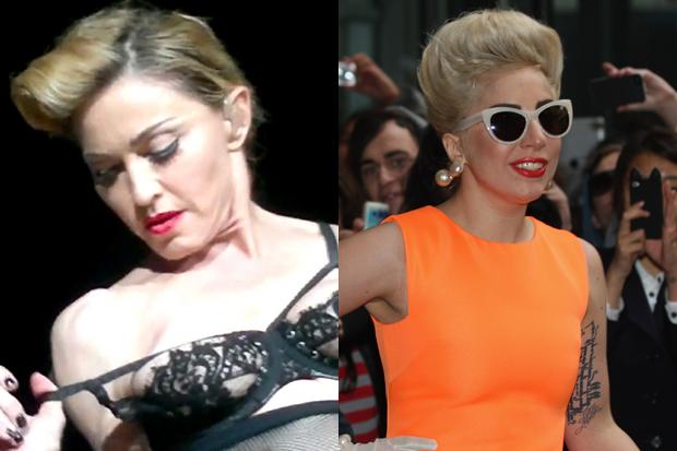 Madonna / Lady Gaga (Sandra Mu/Getty)