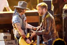Johnny Depp and Dan Auerbach / Photo by Getty Images