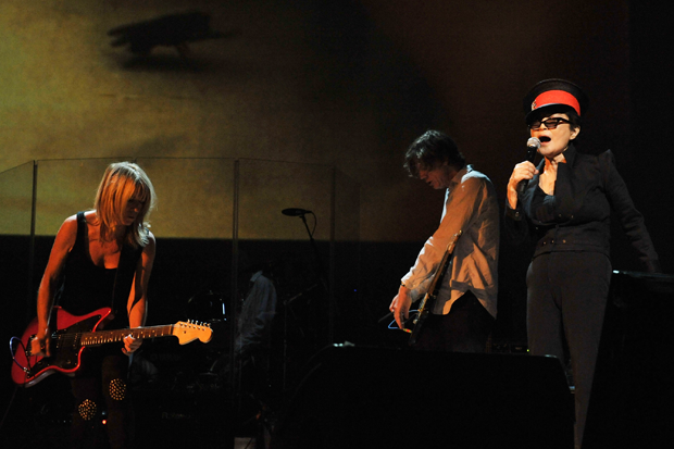 Yoko Ono with Kim Gordon and Thurston Moore in 2010 / Photo by Lester Cohen/Getty