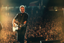Bruce Springsteen onstage at Denmark's Roskilde Festival, 11 July 2012 / Photo by Jo Lopez
