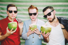 Two Door Cinema Club's Sam Halliday, Alex Trimble, and Kevin Baird / Photo by Bella Howard