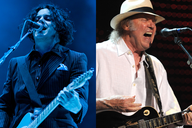 Jack White (Jim Bennett) / Neil Young (Getty Images)