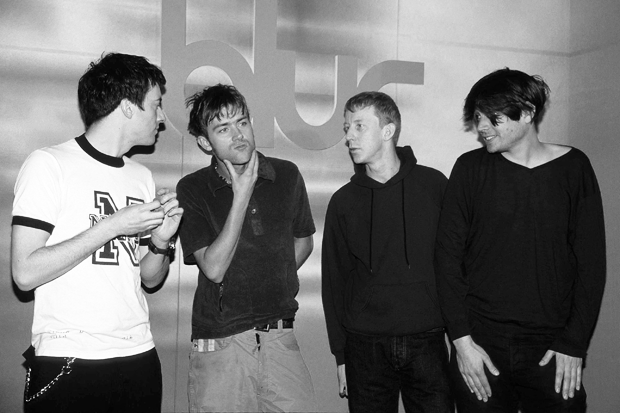 Blur's Graham Coxon, Damon Albarn, Dave Rowntree, and Alex James / Photo by Getty Images