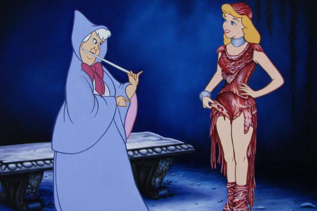 'Magic Meat Dress' via laluzdejesus