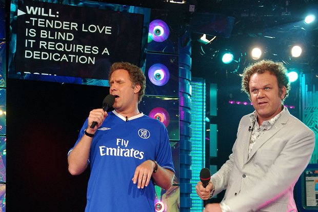 Will Ferrell and John C. Reilly sing karaoke in New York City / Photo by Michael Loccisano/FilmMagic