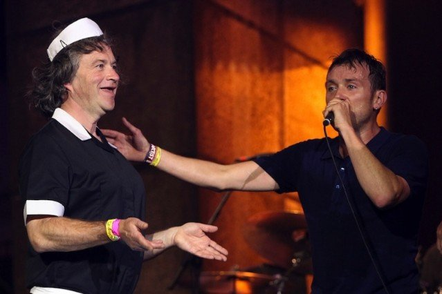Harry Enfield and Damon Albarn / Photo by Getty Images