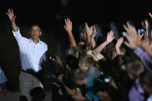 Barack Obama, clearly enjoying a sweet bass drop / Photo by Getty Images