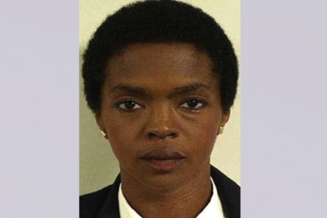 Lauryn Hill's mug shot / Photo via United States Marshals Service