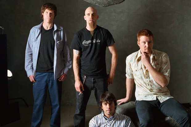 Mark Lanegan, Nick Oliveri, Dave Grohl, and Josh Homme of Queens of the Stone Age