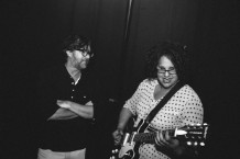 Menswear designer Billy Read, left, with Alabama Shakes frontwoman Brittany Howard