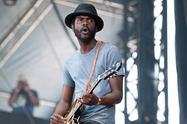 Gary Clark Jr. performs at Hangout Fest 2012 / Photo by Chad Kamenshine